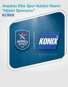 KONIX, Anadolu Efes Spor Kulübü'nin Resmi Hijyen Partneri Olmayı Sürdürecek!