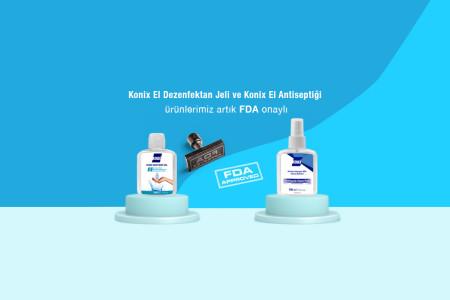 Konix El Dezenfektan Jeli ve Dezenfektan Ürünlerimiz İçin FDA Onayı Aldık