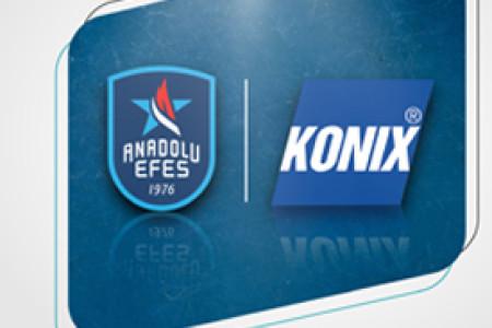KONIX, Anadolu Efes Spor Kulübü'nün 2020-2021 Sezonu Resmi 'HijyenPartneri' Oldu
