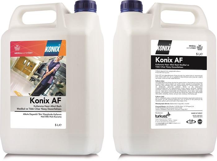 Konix AF  Aldehitsiz Kullanıma Hazır Medikal ve Tıbbi Cihaz Yüzey Dezenfektanı – Alkol Bazlı