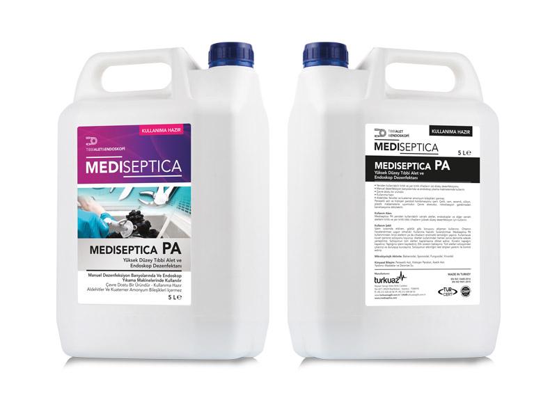 Mediseptica PA Kullanıma Hazır Yüksek Düzey Tıbbi Alet ve Endoskop Dezenfektanı