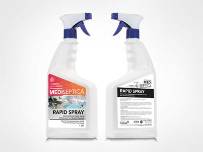 MEDISEPTICA Rapid Spray Kullanıma Hazır Alkol Bazlı Medikal ve Tıbbi Cihaz Yüzey Dezenfektanı