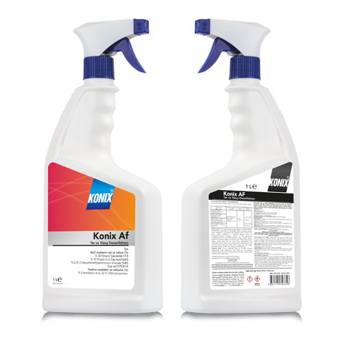 Konix AF Kullanıma Hazır Alkol Bazlı Medikal ve Tıbbi Cihaz Yüzey Dezenfektanı
