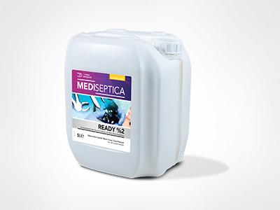 Mediseptica Ready %2 Tıbbi Cihaz ve Endoskoplar için Yüksek Düzey Dezenfektan (%2 Gluteraldehitli)